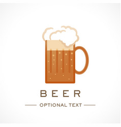 beer logo and text for designs vector image