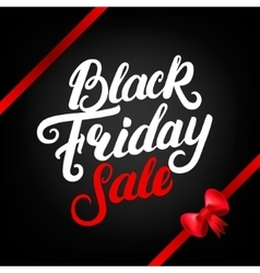 Black Friday Sale hand written lettering with red vector