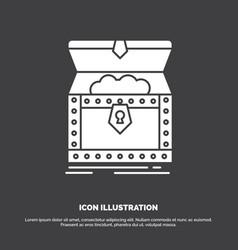 Box chest gold reward treasure icon glyph symbol vector