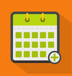 calendar deadline icon flat style vector image