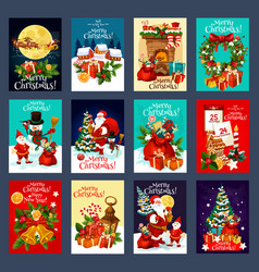 Christmas and new year holidays greeting card vector