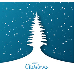 christmas background with christmas tree origami vector image