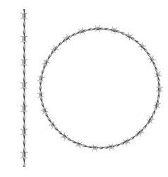 circle frame and border from steel barbwire vector image