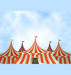 Circus tents background vector