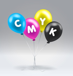 CMYK inflatable balloons vector image