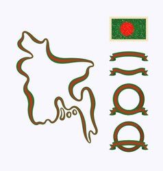 Colors of Bangladesh vector image