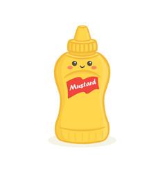 Cute bottle mustard bottle face vector