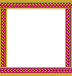 Cute christmas or new year border with diamond vector