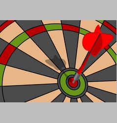Dart in center vector