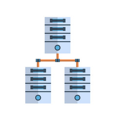data center icon cloud computer connection hosting vector image