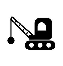 Demolition icon vector