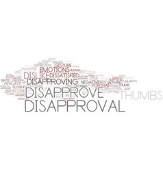 Disapprove word cloud concept vector