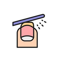 File nails manicure salon flat color line vector