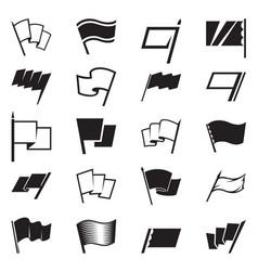 Flag icon set vector