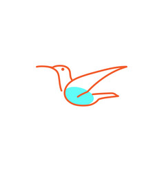 flying bird logo template and insiration vector image