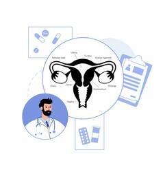 Gynecology clinic concept vector