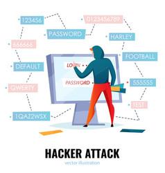 hacker password composition vector image