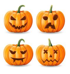 halloween background pumpkin greeting card vector image
