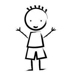 happy boy drawn isolated icon design vector image