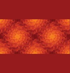 hot folk style abstract sun seamless pattern vector image