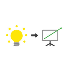 Icon concept of glowing light bulb with sales vector