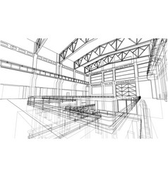 industrial zone sketch vector image