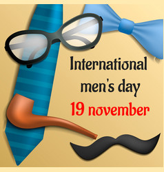 international mens day concept background vector image