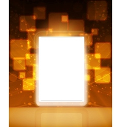 lcd tablet vector image vector image