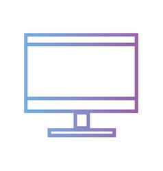 line computer screen electronic technology vector image