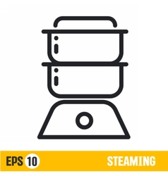 line icon steamer vector image