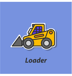 loader color flat icon vector image