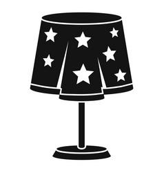 magic desk lamp icon simple style vector image