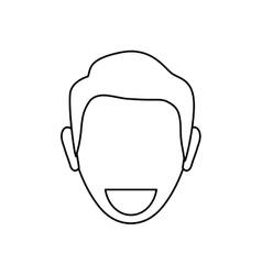 Man faceless smiling vector