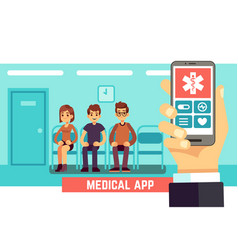 medical phone mobile app healthcare and hospital vector image