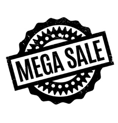 Mega Sale rubber stamp vector