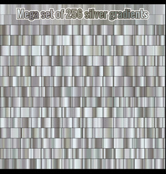 mega set consisting of collection 256 silver vector image