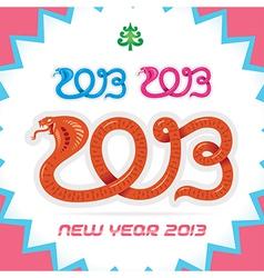 Merry Christmas New Year Zodiac Sign 2013 vector