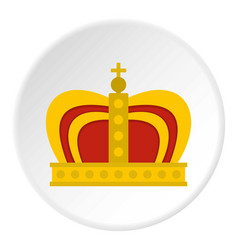 Monarchy crown icon circle vector