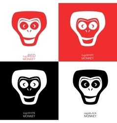 Monkey logotype template vector
