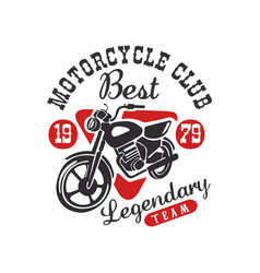 Motorcycle club logo best legendary team design vector
