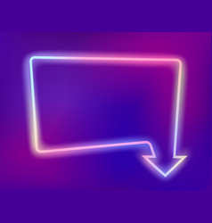 neon frame with arrow vector image