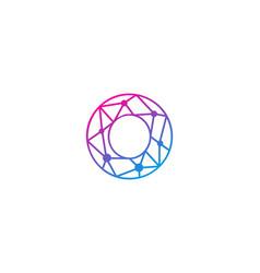 O letter network logo icon design vector