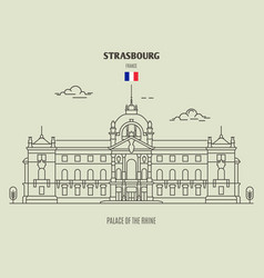 palace of the rhine of strasbourg vector image