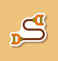 Paper sticker on stylish background sports vector