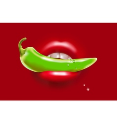 Pepper in Mouth vector image