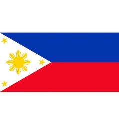 pilipino flag vector image