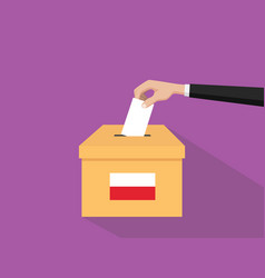 poland vote election concept with vector image