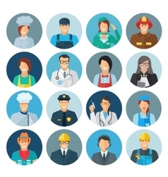 Profession Avatar Flat Icon vector