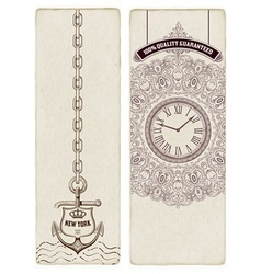 Retro Premium Quality Cards Baroque ornaments and vector image