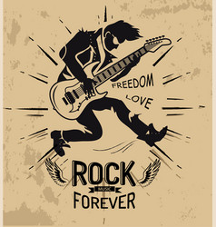 rock music forever love on vector image